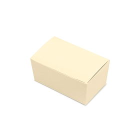 Folding Carton, Ballotin Box, Cream, 4-1/4