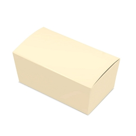 Folding Carton, Ballotin Box, Cream, 6