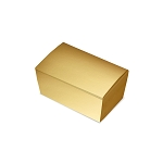 Folding Carton, Ballotin Box, Gold, 4-1/4