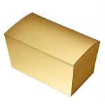 Folding Carton, Ballotin Box, Gold, 6-3/4