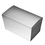 Folding Carton, Ballotin Box, Silver, 6-3/4