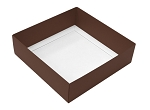 Folding Carton, This Top - That Bottom, Base, 16 oz., Square, Brown, Double-Layer, QTY/CASE-50