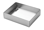 Folding Carton, This Top - That Bottom, Base, 4 oz., Rectangle, Metallic Silver, Single-Layer, QTY/CASE-50