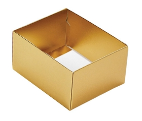 Folding Carton, This Top - That Bottom, Base, 4 oz., Rectangle, Metallic Gold, Double-Layer, QTY/CASE-50