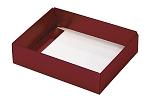 Folding Carton, This Top - That Bottom, Base, 4 oz., Rectangle, Metallic Red, Single-Layer, QTY/CASE-50