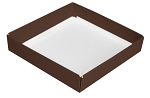 Folding Carton, This Top - That Bottom, Base, 8 oz., Square, Brown, Single-Layer, QTY/CASE-50