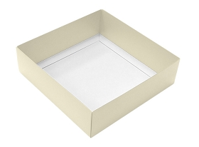 Folding Carton, This Top - That Bottom, Base, 16 oz., Square, Pearlescent, Double-Layer, QTY/CASE-50