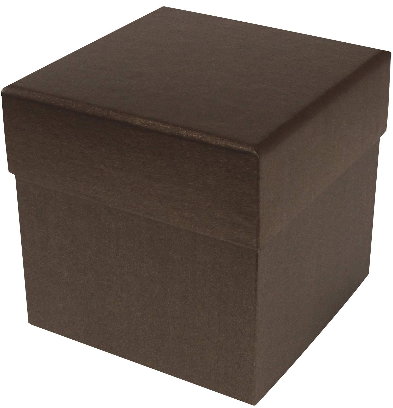 Rigid Set Up Box Cube 4 Tier Deco Bronze Qty Case 12
