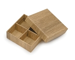 Rigid Set-up Box, Gift Box, Single-Layer, Square, 3 oz., Textured Wood Grain, QTY/CASE-24