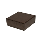 Rigid Set-up Box, Gift Box, Single-Layer, Square, 3 oz., Deco Bronze, QTY/CASE-24