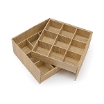Rigid Set-up Box, Cube, 2-Tier, Textured Wood Grain, QTY/CASE-24