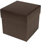 Rigid Set-up Box, Cube, 4-Tier, Deco Bronze, QTY/CASE-12
