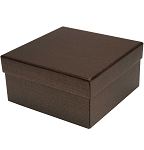 Rigid Set-up Box, Cube, 2-Tier, Deco Bronze, QTY/CASE-24