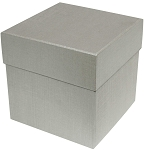 Rigid Set-up Box, Cube, 4-Tier, Silver, QTY/CASE-12