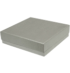 Rigid Set-up Box, Gift Box, Single-Layer, Square, 8 oz., Silver, QTY/CASE-24