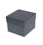 Rigid Set-up Box, Cube, Petite, 2-Tier, Charcoal Sapphire, QTY/CASE-24