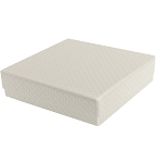 Rigid Set-up Box, Gift Box, Single-Layer, Square, 8 oz., Pearlescent, QTY/CASE-24