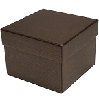 Rigid Set-up Box, Cube, 3-Tier, Deco Bronze, QTY/CASE-12