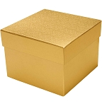 Rigid Set-up Box, Cube, 3-Tier, Gold, QTY/CASE-12