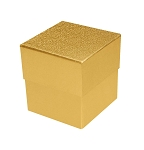 Rigid Set-up Box, Cube, Petite, 3-Tier, Petite, Gold, QTY/CASE-24