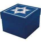 Rigid Set-up Box, Cube, 3-Tier, Star of David, QTY/CASE-12