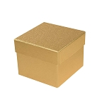 Rigid Set-up Box, Cube, 2-Tier, Gold, QTY/CASE-24