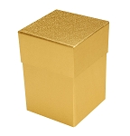 Rigid Set-up Box, Cube, 4-Tier, Gold, QTY/CASE-12