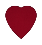 Heart Shaped Candy Box, Red Velour, 8 oz., QTY/CASE-12