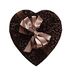 Heart Box, Chocolate Velvet, Brown, 8 oz., QTY/CASE-12