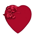 Heart Shaped Candy Box, Red Velvet, 8 oz., QTY/CASE-24