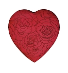 Heart Box, Embroidered Rose, 8 oz. , QTY/CASE-12