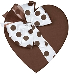 Heart Box, Coco Satin Polka Dot Bow, 1 lb., QTY/CASE-6