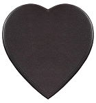 Heart Box, Leather, Dark Brown, 1 lb., QTY/CASE-6