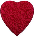Heart Box, Rose Swirl, 1 lb., Red, QTY/CASE-6