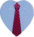 Heart Box, Men's Shirt, 1 lb., QTY/CASE-12