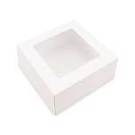 Bakery Box with Window, White, 9 x 9 x 4