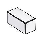 Anytime Favor Box, 2-Piece, White with Black border, 2-3/4 x 1 x 1-1/4