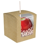 Apple Box, Kraft, Dots, 4 x 4 x 4