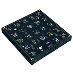 Folding Carton, 1-Piece, Square, Single-Layer, Starry Night Advent Calendar, QTY/CASE-50