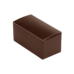 Anytime Favor Box, 2-Piece, Brown, 2-3/4 x 1 x 1-1/4
