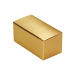 Folding Carton, Anytime Favor Box, 2-Piece, Metallic Gold, QTY/CASE-50