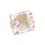 Watercolor Polka Dots, Decorative Gift Box with Window, Rectangle, 4-1/2 x 3 x 3