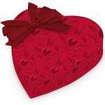 Heart Box, With Love, Bow, 1 lb., QTY/CASE-6