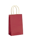 Kraft Bag, Red Natural, 5.5 x 3.25 x 8.375