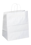 Kraft Bag, White, 14.5