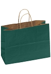 Kraft Bag, Hunter Green Natural, 16