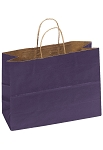 Kraft Bag, Purple Natural, 16