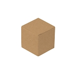 Anytime Favor Box, 1-Piece, Standard, Kraft, 1-1/4 x 1-1/4 x 1-1/4