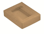 Folding Carton, This Top - That Bottom, Window Lid, 4 oz., Rectangle, Kraft, QTY/CASE-50