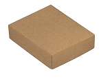 Folding Carton, This Top - That Bottom, Lid, 4 oz., Rectangle, Kraft, QTY/CASE-50